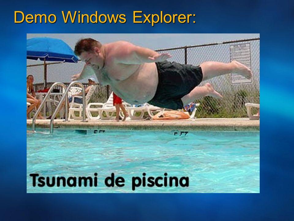 Demo Windows Explorer: