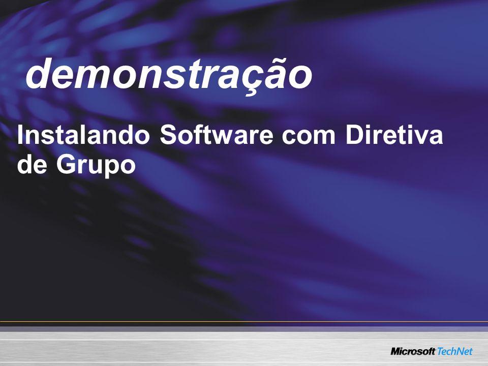 Demo Instalando Software com Diretiva de Grupo demonstração