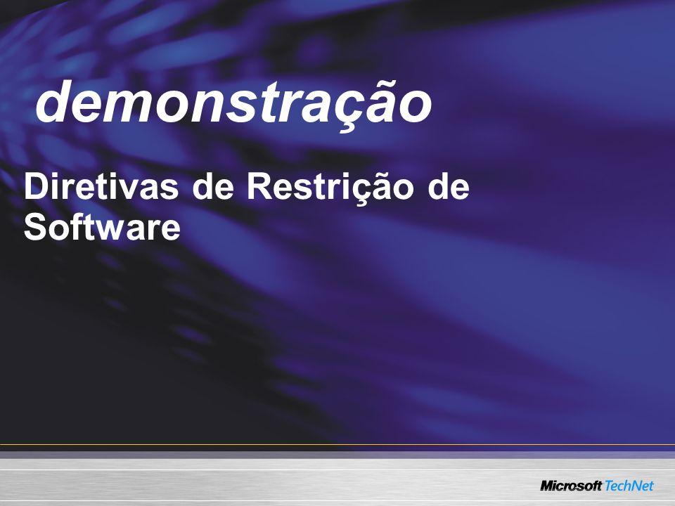 Demo Diretivas de Restrição de Software demonstração