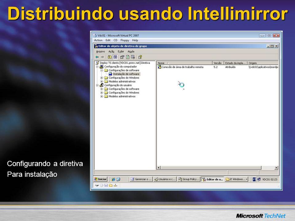 Distribuindo usando Intellimirror Outras configurações