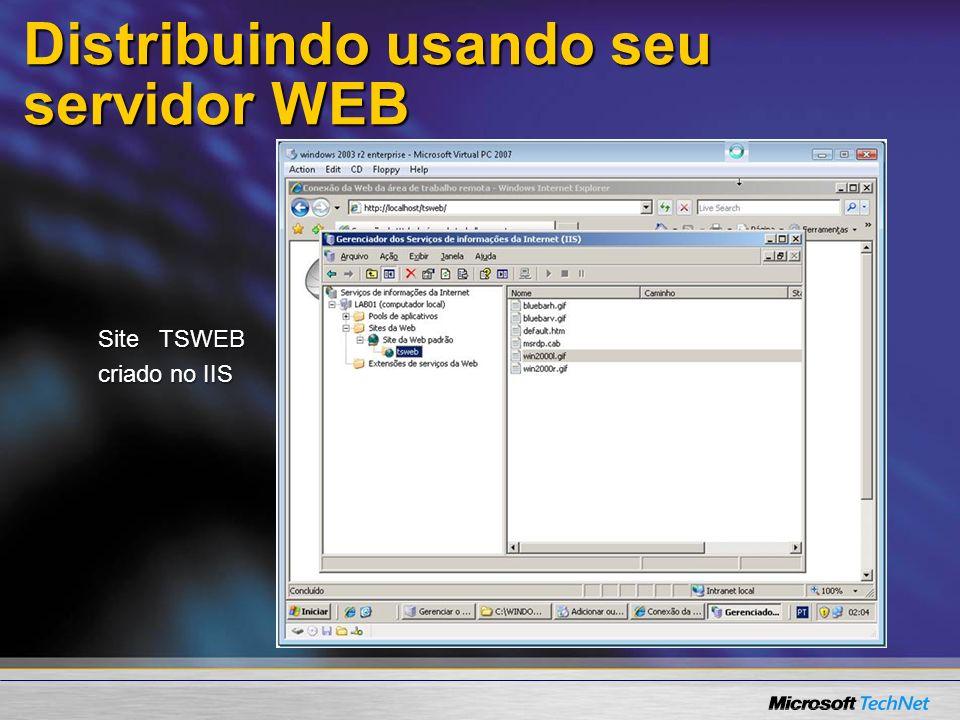 Resumo Voce pode achar o remote desktop client aqui:Voce pode achar o remote desktop client aqui:%SYSTEMROOT%\system32\clients\tsclient\win32 Remote Desktop Web Connection:Remote Desktop Web Connection: http://www.microsoft.com/terminalserviceshttp://www.microsoft.com/terminalservices ou adicionar e remover programa do windows.