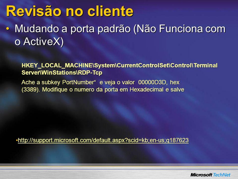 Mais Informações Microsoft terminal services WebsiteMicrosoft terminal services Website –http://www.microsoft.com/terminalservices