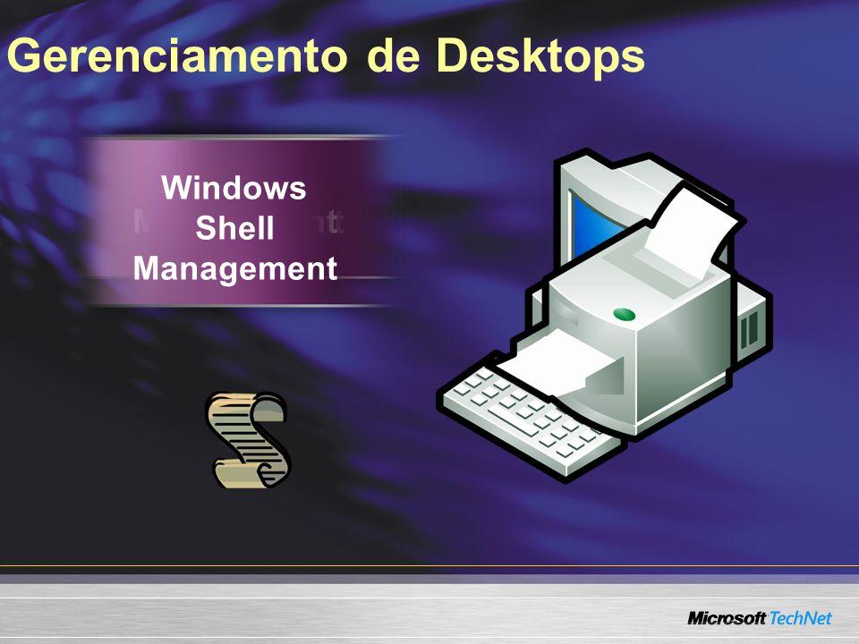 Gerenciamento de Desktops Power Management Printer Management Windows Shell Management