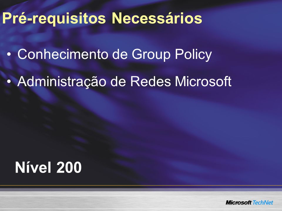 Entendendo a Group Policy Revisando os Novos Recursos de InfraEstrutura Usando Parâmetros da GPO Agenda