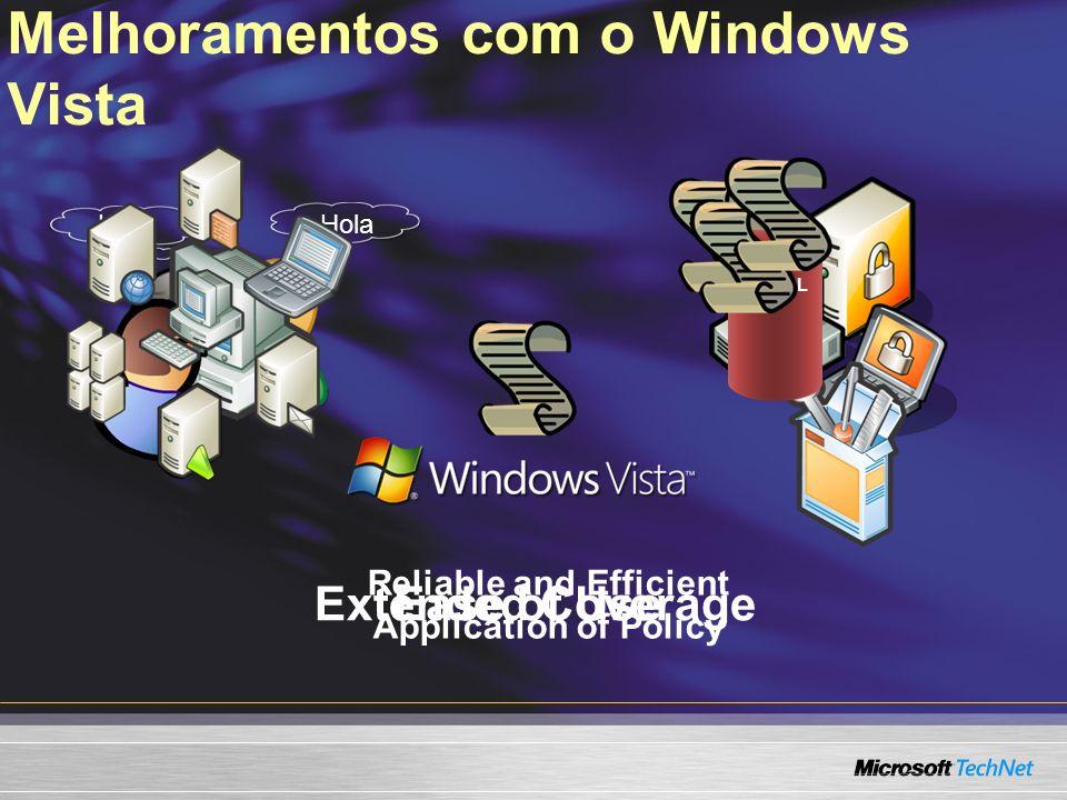 Escolhendo a Opção Certa Exemplos de Tipos de Políticas BITS Client Help Disk Failure Diagnostics DVD Video Burning MMTPNetwork Quarantine Security Protection Shell Application Management UAC