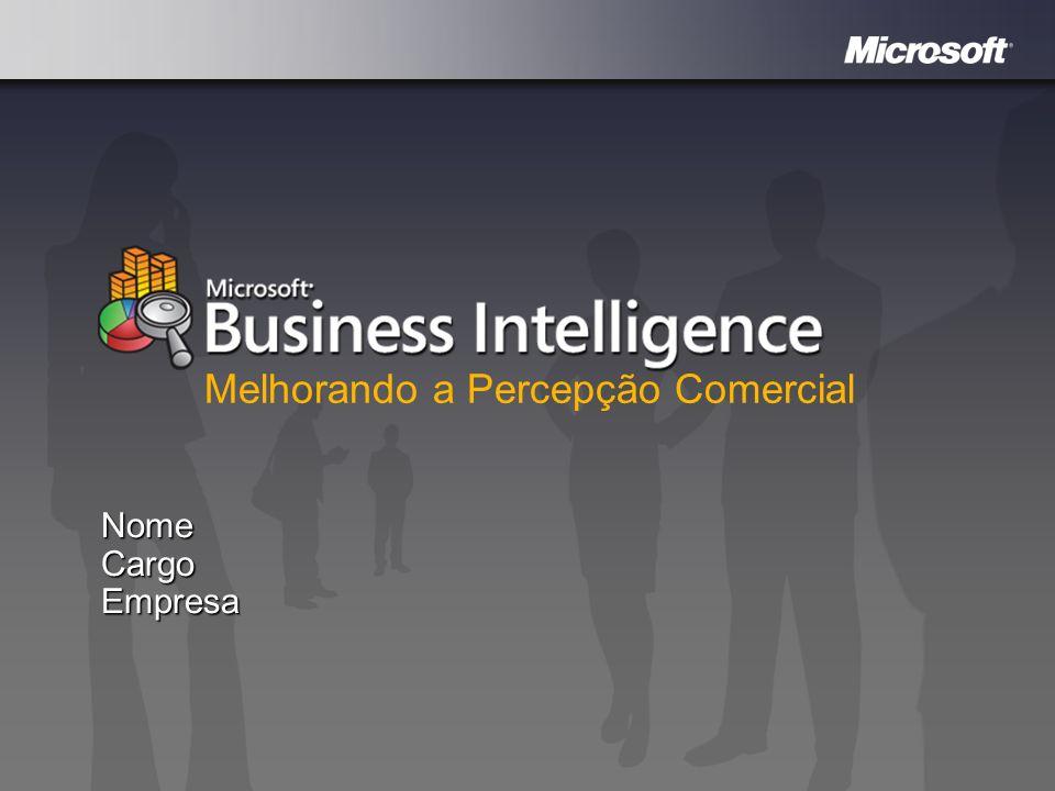 Mapeie a jornada da sua infra-estrutura Melhore a percepção comercial com Business Intelligence Silos de dados, relatórios personalizados e dependentes da TI.