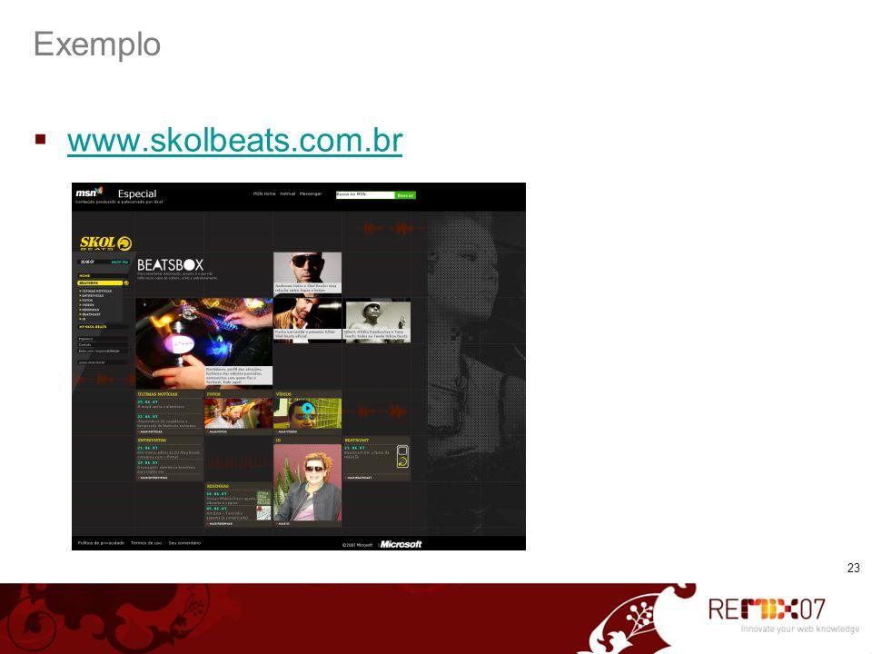 23 Exemplo www.skolbeats.com.br
