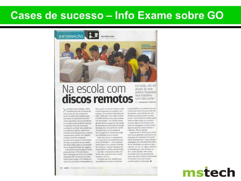 Cases de sucesso – Info Exame sobre GO