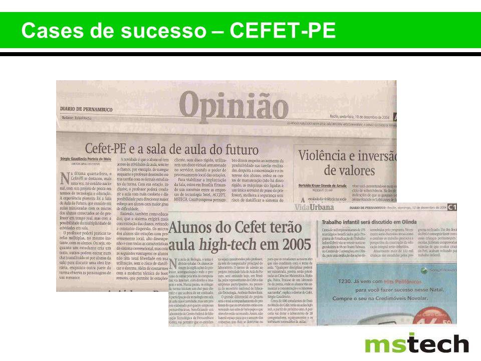 Cases de sucesso – CEFET-PE