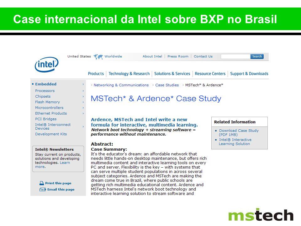 Case internacional da Intel sobre BXP no Brasil