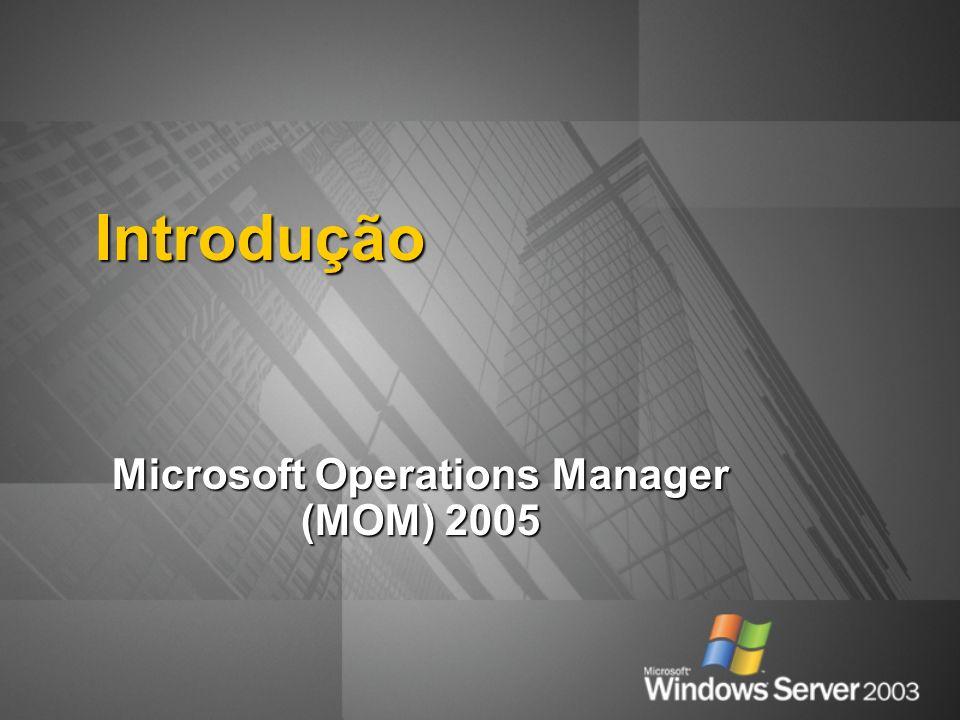 Introdução Microsoft Operations Manager (MOM) 2005