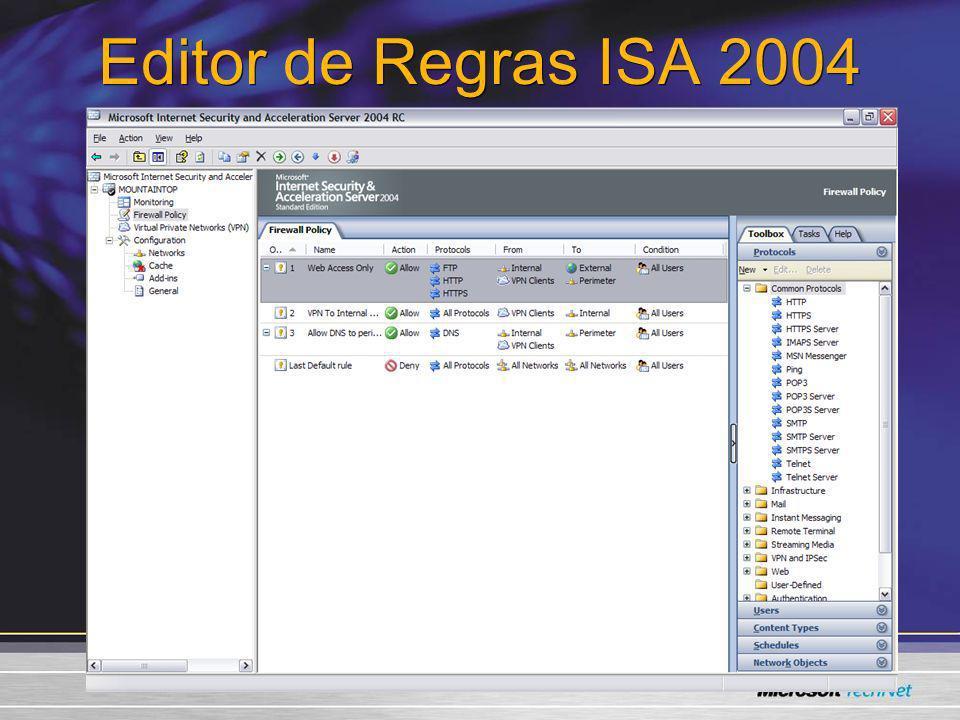 Editor de Regras ISA 2004