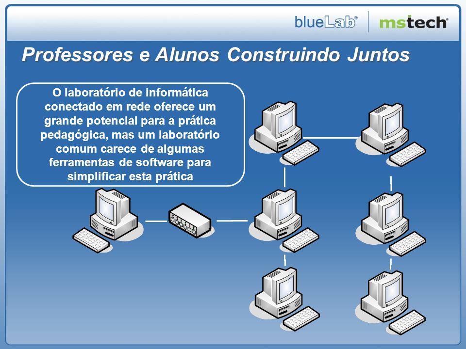 O software BlueLab BlueLab Professor e BlueLab Aluno: Dois componentes que permitem ao professor conduzir o desenvolvimento das atividades no laboratório de informática de acordo com os objetivos do seu planejamento pedagógico.