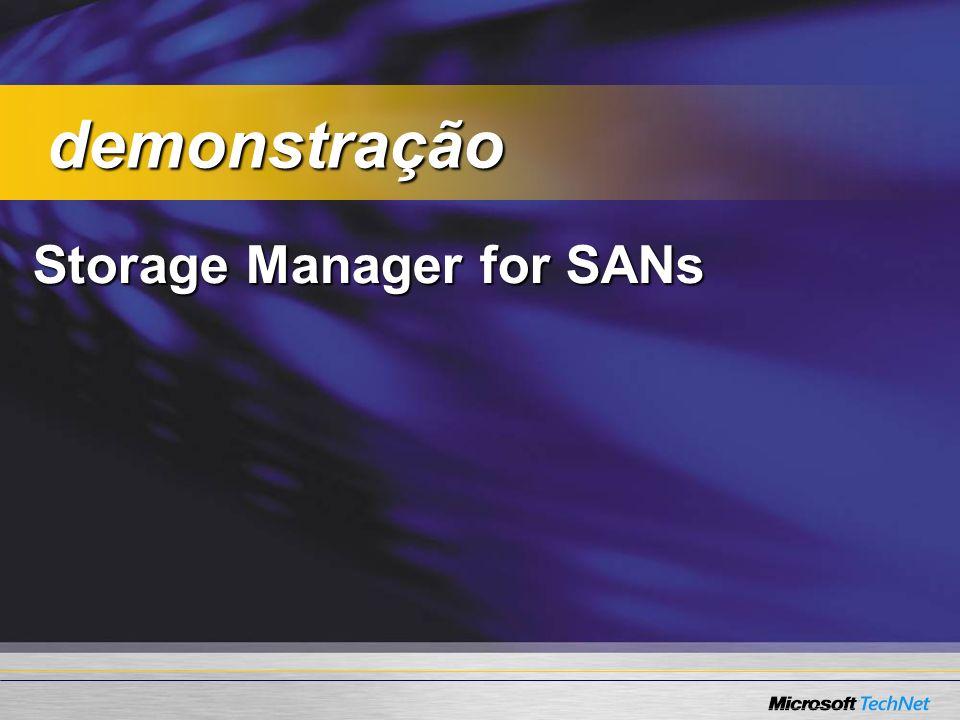 Storage Manager for SANs demonstração demonstração