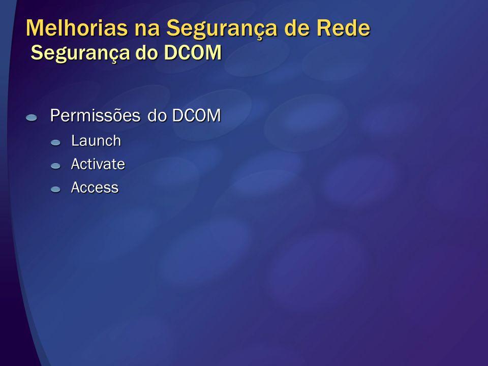 Permissões do DCOM LaunchActivateAccess