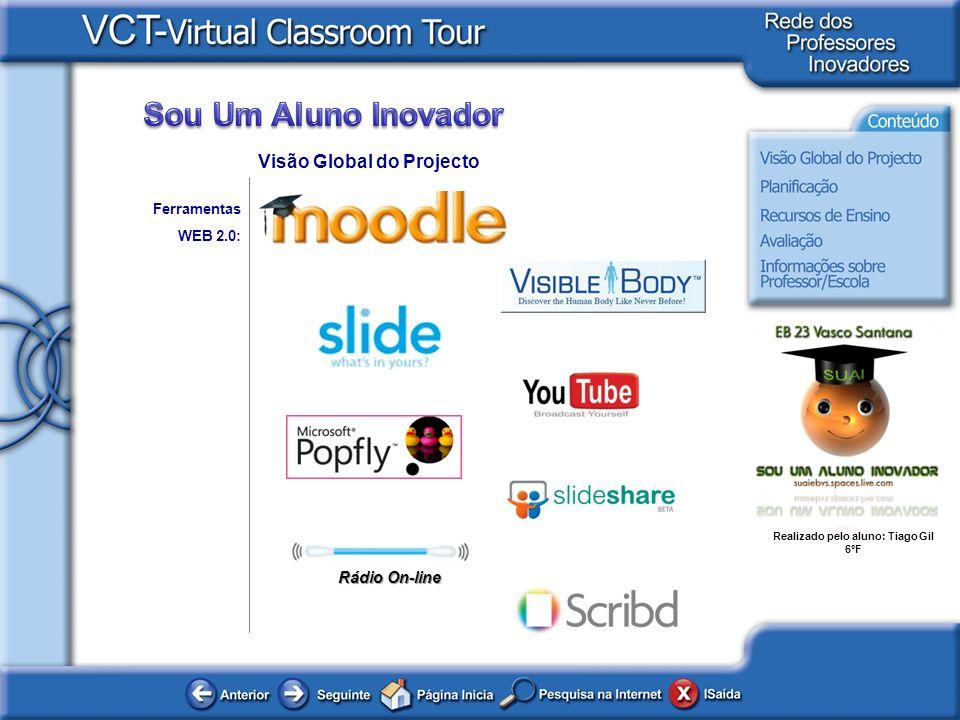 Realizado pelo aluno: Tiago Gil 6ºF Ferramentas WEB 2.0: Visão Global do Projecto Rádio On-line