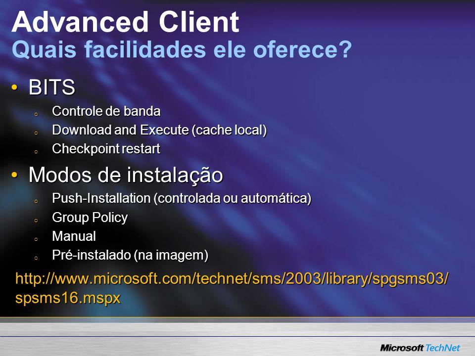 SMS Advanced Client Arquivos de instalação Arquivos de instalação Cliente SMS instalado Cliente SMS instalado demo demo