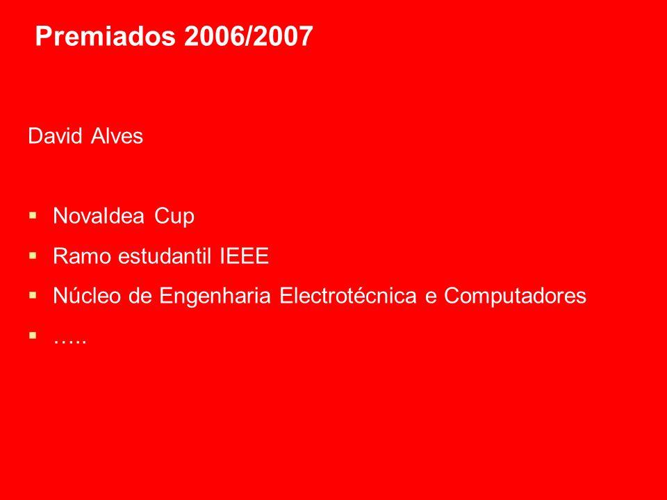 Premiados 2006/2007 Felipe Ávila da Costa Actividade na JuniFEUP Actividade no BEST Criação do NeCG-FEUP Actividades de voluntariado …..