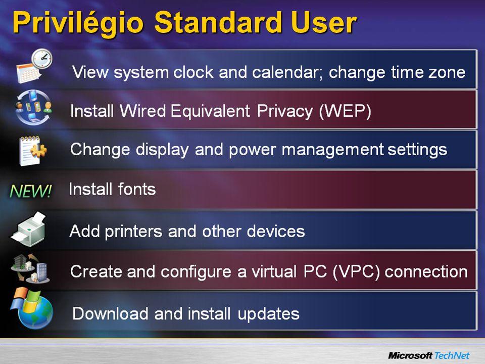 Privilégio Standard User