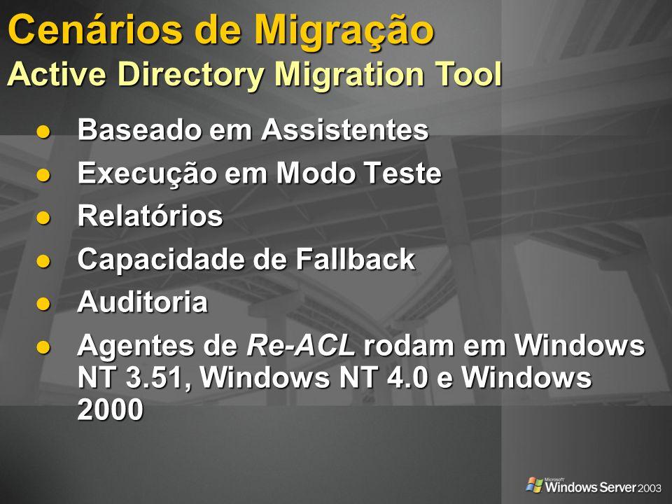 Baseado em Assistentes Baseado em Assistentes Execução em Modo Teste Execução em Modo Teste Relatórios Relatórios Capacidade de Fallback Capacidade de