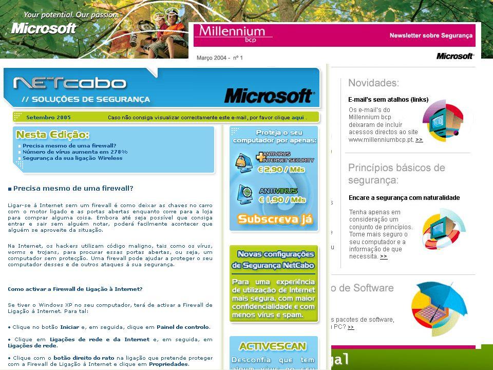 As iniciativas Locais Microsoft – Portugal Formar e informar o maior número de utilizadores possível Guias e Formação Parcerias (700.000 utilizadores)