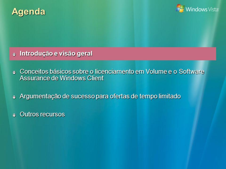 Passo 1 (2/2): Promover as Licenças de Actualização e o Software Assurance De 1 Abr a 30 Jun 2006, qualquer aquisição de licensa de actualização de Windows XP Pro em Select ou Open que inclua Software Assurance receberá um desconto de 30% no custo da licença de actualização Está a ponderar comprar apenas a actualização para o Windows XP.
