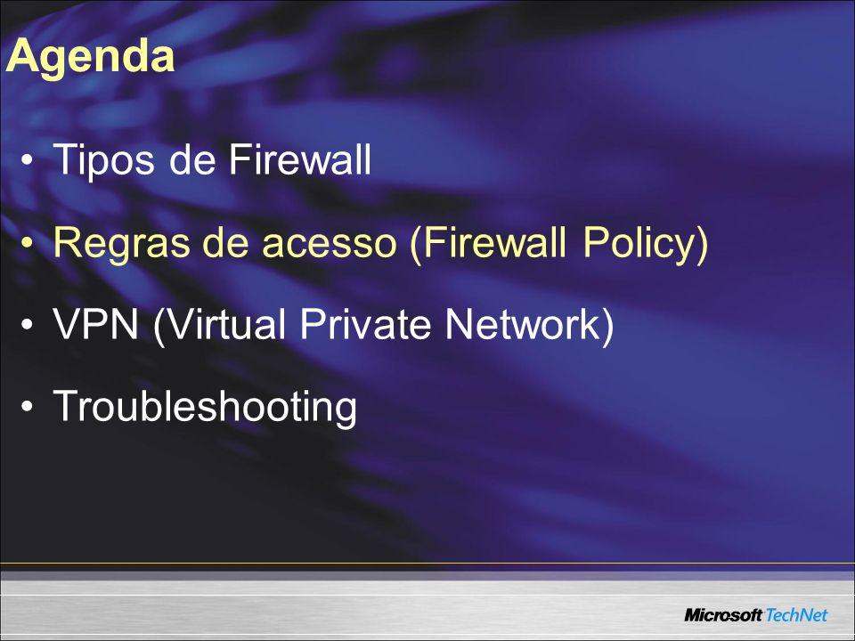 VPN (Virtual Private Network) Protocolos disponíveis: - Site to Site: PPTP, L2TP e IPSec -Client to Site PPTP e L2TP
