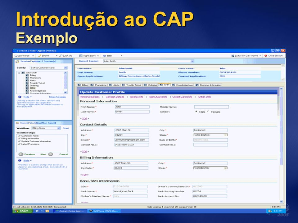 Para Maiores Informações Patterns & Practices http://msdn.microsoft.com/practices/ http://msdn.microsoft.com/practices/ Composite UI Application Block http://msdn.microsoft.com/practices/default.aspx?pull=/library/e n-us/dnpag2/html/cabctp.asp http://msdn.microsoft.com/practices/default.aspx?pull=/library/e n-us/dnpag2/html/cabctp.asp http://www.gotdotnet.com/codegallery/codegallery.aspx?id=22f7 2167-af95-44ce-a6ca-f2eafbf2653c Windows Workflow Foundation http://msdn.microsoft.com/windowsvista/building/workflow/defa ult.aspx http://msdn.microsoft.com/windowsvista/building/workflow/defa ult.aspx