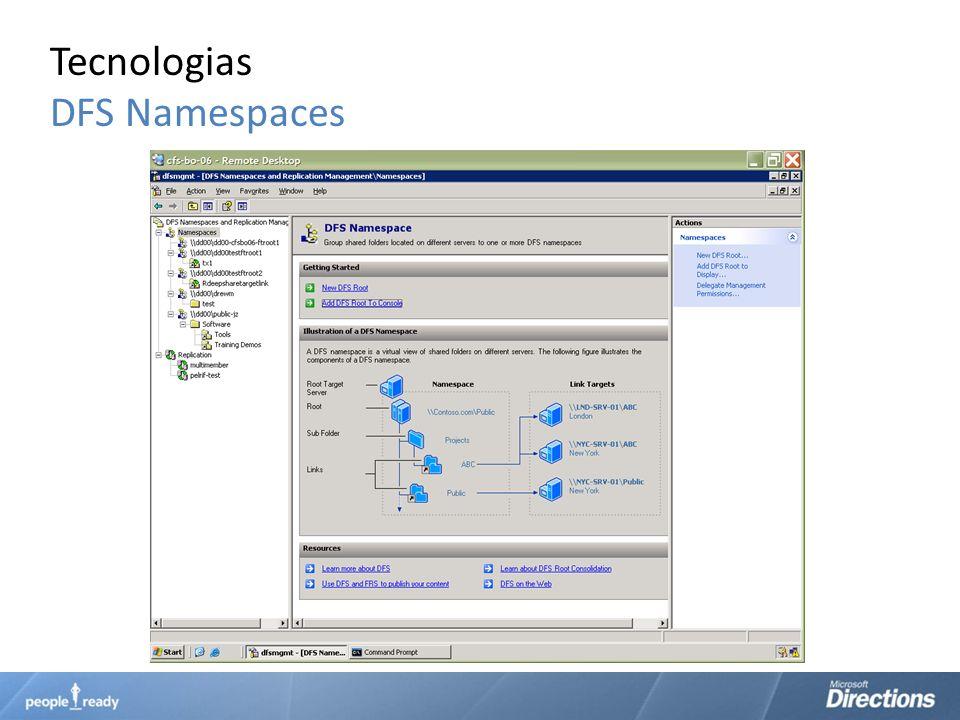 Tecnologias DFS Namespaces