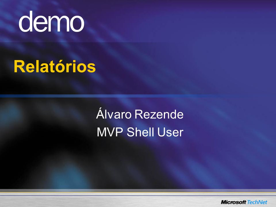 Relatórios Álvaro Rezende MVP Shell User
