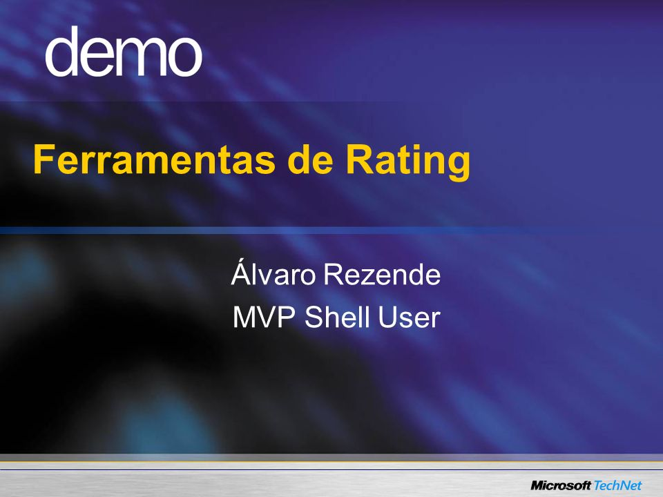 Ferramentas de Rating Álvaro Rezende MVP Shell User