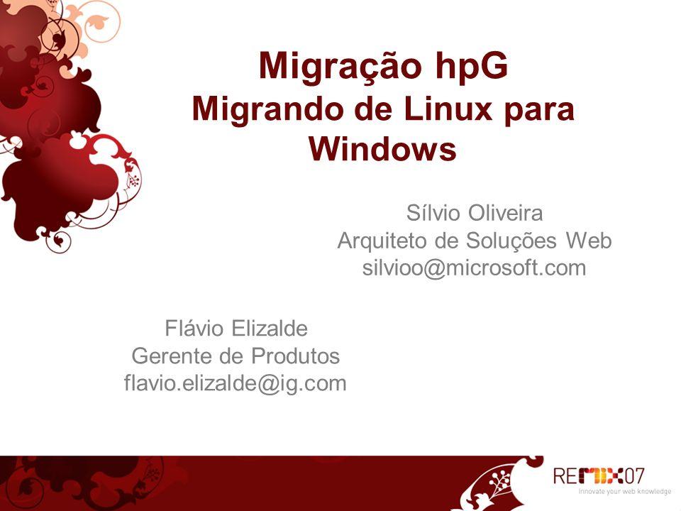3 Agenda hpG um produto iG/Brasil Telecom Posição no mercado Novos desafios da Internet Porque migrar para Windows.