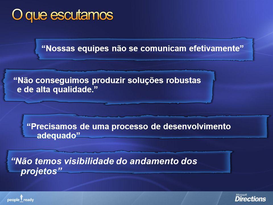 Estudos de Caso Ampsoft - Brasil Permitiu automatização dos processos da fábrica de software de forma a obter economia de escala, maior produtividade e qualidade no desenvolvimento de sistemas.