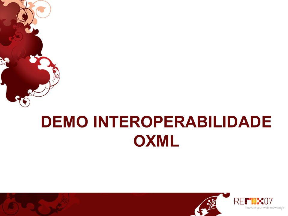 Pilares Virtualização Open XML – Formato de Documento Web Services Propriedade Intelectual Gerenciamento de Identidade
