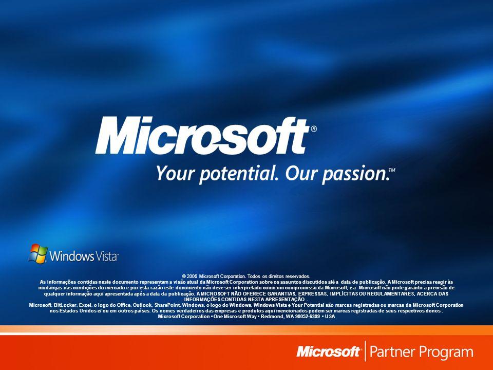 © 2006 Microsoft Corporation. Todos os direitos reservados. As informações contidas neste documento representam a visão atual da Microsoft Corporation