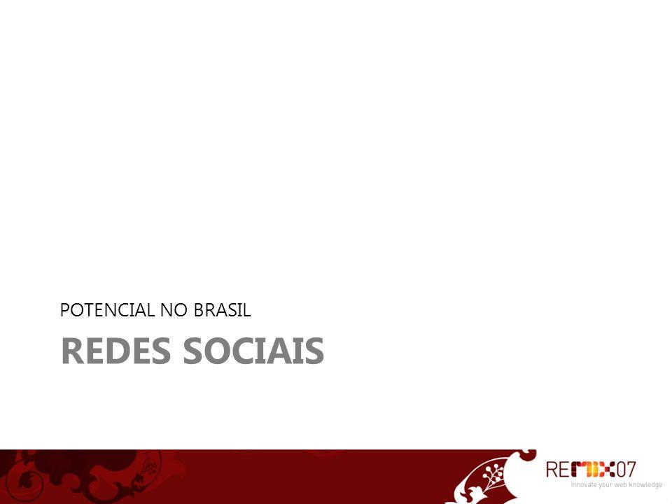 REDES SOCIAIS POTENCIAL NO BRASIL