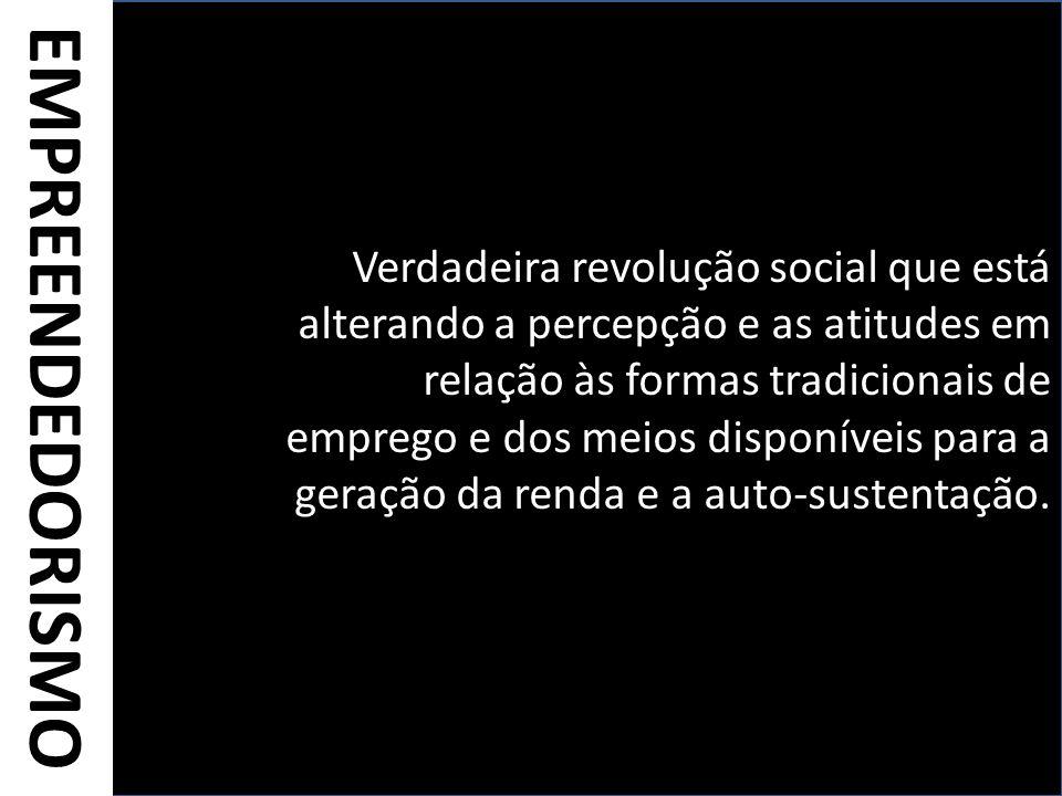Verdadeira revolução social que está alterando a percepção e as atitudes em relação às formas tradicionais de emprego e dos meios disponíveis para a geração da renda e a auto-sustentação.