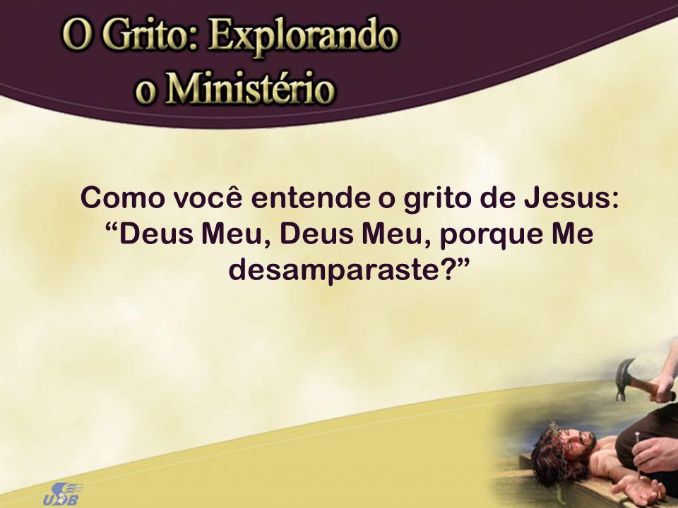 Como você entende o grito de Jesus: Deus Meu, Deus Meu, porque Me desamparaste?