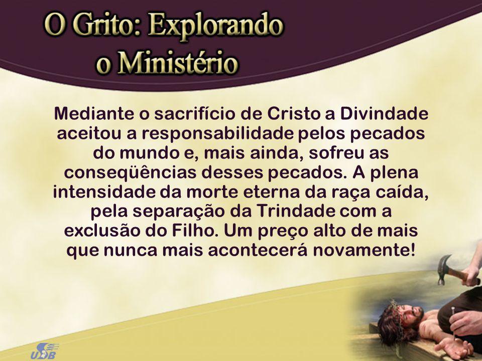 Mediante o sacrifício de Cristo a Divindade aceitou a responsabilidade pelos pecados do mundo e, mais ainda, sofreu as conseqüências desses pecados. A