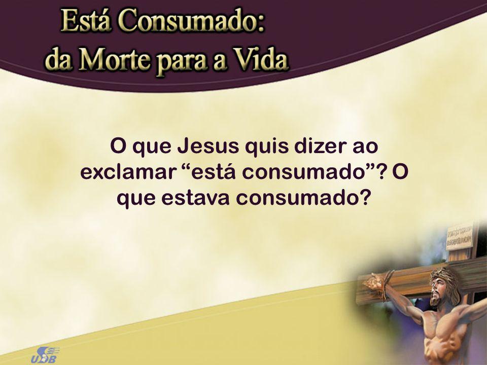 O que Jesus quis dizer ao exclamar está consumado? O que estava consumado?