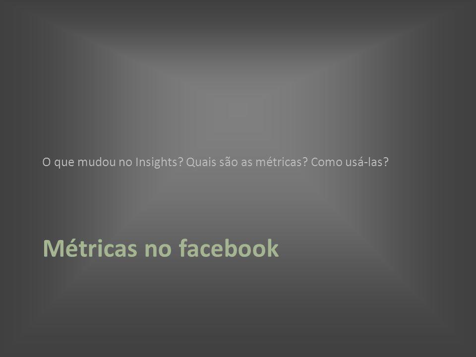 Métricas no facebook O que mudou no Insights? Quais são as métricas? Como usá-las?