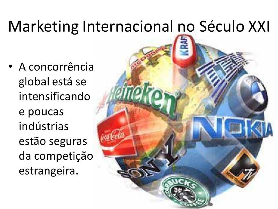 Marketing Internacional no Século XXI A concorrência global está se intensificando e poucas indústrias estão seguras da competição estrangeira.