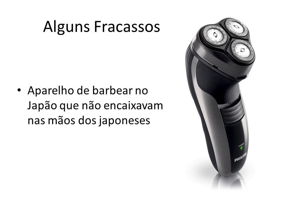 Alguns Fracassos Aparelho de barbear no Japão que não encaixavam nas mãos dos japoneses