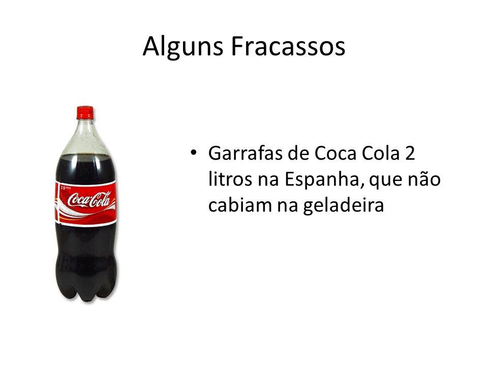 Alguns Fracassos Garrafas de Coca Cola 2 litros na Espanha, que não cabiam na geladeira