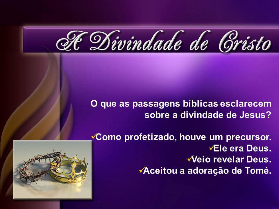 O que as passagens bíblicas esclarecem sobre a divindade de Jesus.