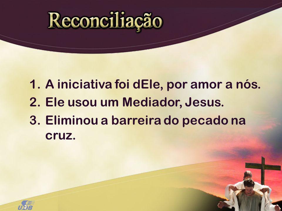 1.A iniciativa foi dEle, por amor a nós. 2.Ele usou um Mediador, Jesus. 3.Eliminou a barreira do pecado na cruz.