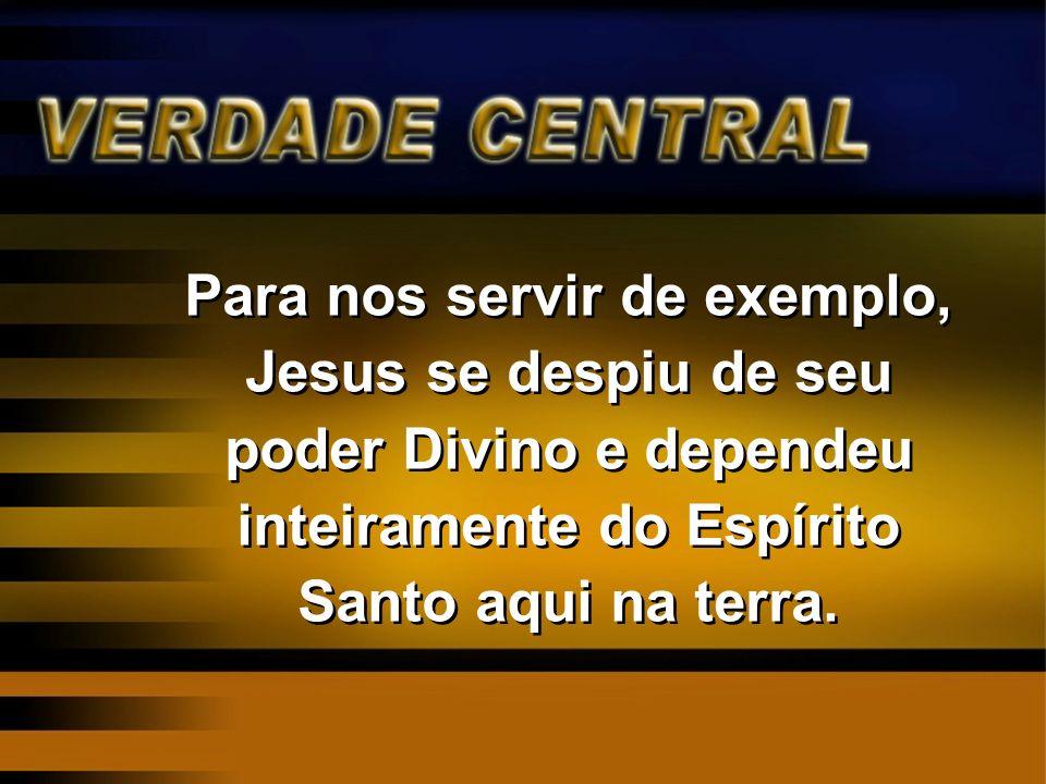 Reflexão: Porque Jesus Abriu mão de usar Seu poder Divino e se tornou totalmente dependente do Espírito Santo aqui na terra?