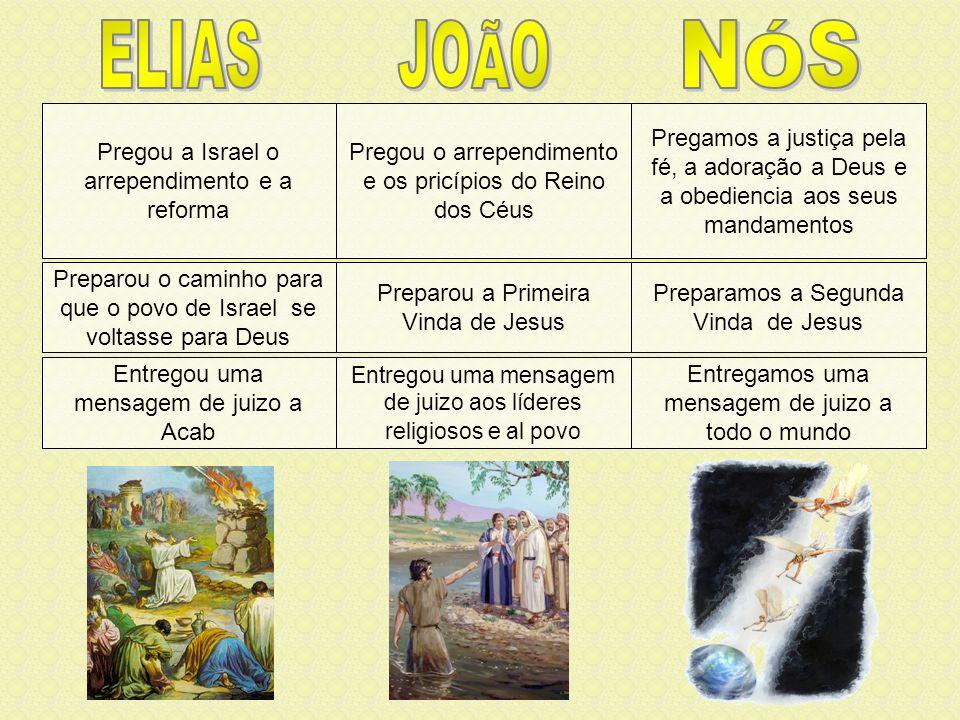 Em este tempo, justamente antes da segunda vinda de Cristo nas nuvens dos céus, será feita uma obra como a de João Batista.