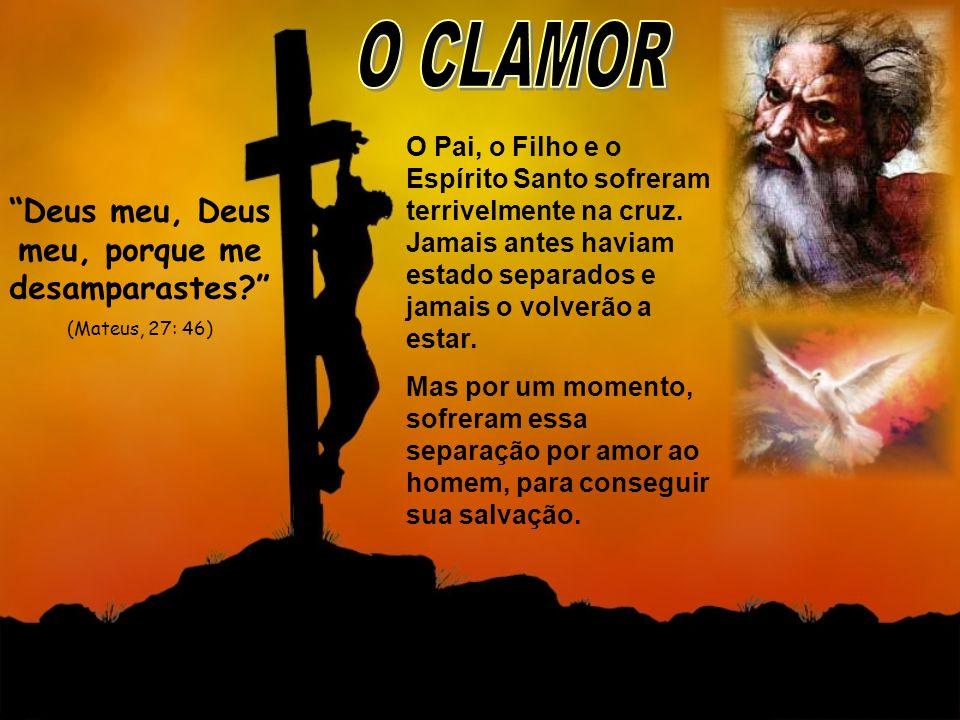 O Pai, o Filho e o Espírito Santo sofreram terrivelmente na cruz. Jamais antes haviam estado separados e jamais o volverão a estar. Mas por um momento