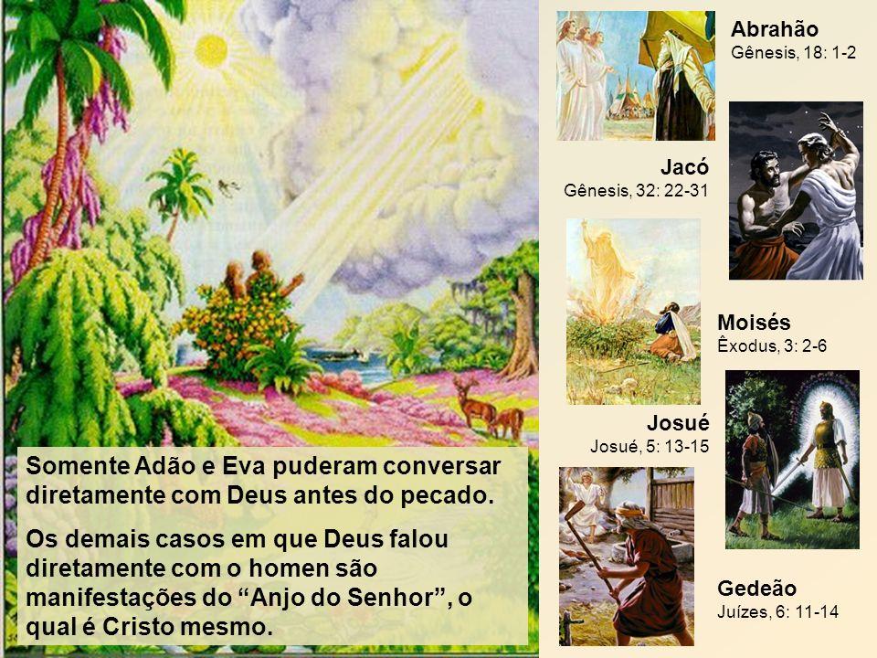Somente Adão e Eva puderam conversar diretamente com Deus antes do pecado. Os demais casos em que Deus falou diretamente com o homen são manifestações